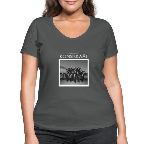 Könsikkäät - joulu saarella - Stanley & Stellan naisten v-aukkoinen luomu-T-paita