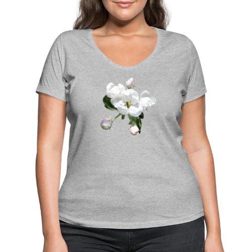 Omenankukka ja kukkakärpänen - Stanley & Stellan naisten v-aukkoinen luomu-T-paita