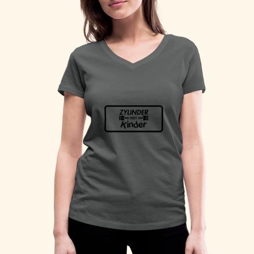 Zylinder Statt Kinder - Frauen Bio-T-Shirt mit V-Ausschnitt von Stanley & Stella