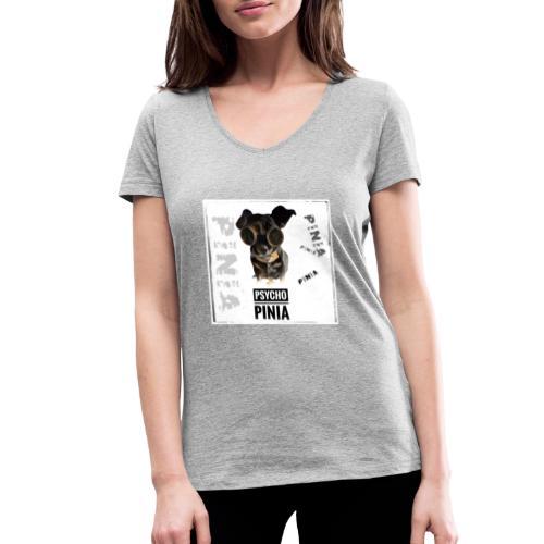 Psycho Pinia - Frauen Bio-T-Shirt mit V-Ausschnitt von Stanley & Stella