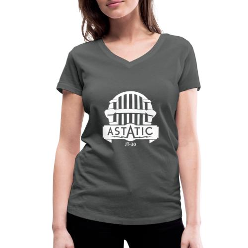 Astatic JT-30 logo - Women's Organic V-Neck T-Shirt by Stanley & Stella