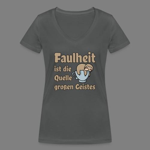 Faulheit - Frauen Bio-T-Shirt mit V-Ausschnitt von Stanley & Stella