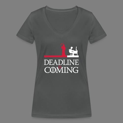 deadline is coming - Frauen Bio-T-Shirt mit V-Ausschnitt von Stanley & Stella