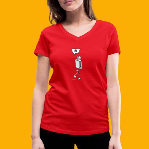 Dat Robot: Nerd Flirt Woman - Vrouwen bio T-shirt met V-hals van Stanley & Stella