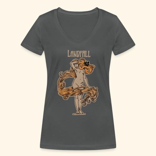 LANDFALL FLORA NEGRA COLOUR - Frauen Bio-T-Shirt mit V-Ausschnitt von Stanley & Stella