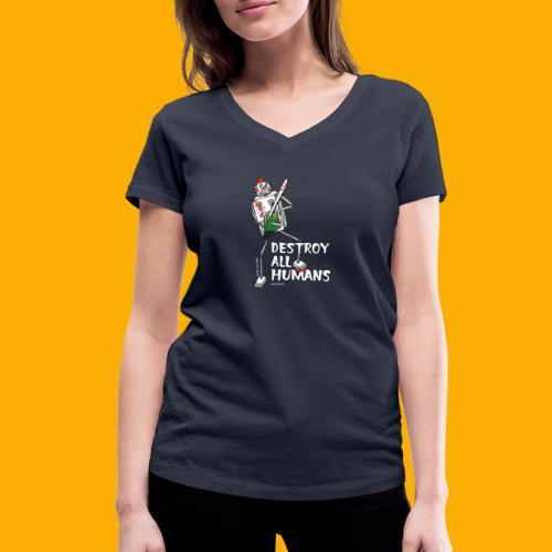 Dat Robot: Destroy Series Killer Clown Dark - Vrouwen bio T-shirt met V-hals van Stanley & Stella