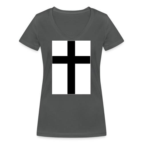 Cross - Ekologisk T-shirt med V-ringning dam från Stanley & Stella
