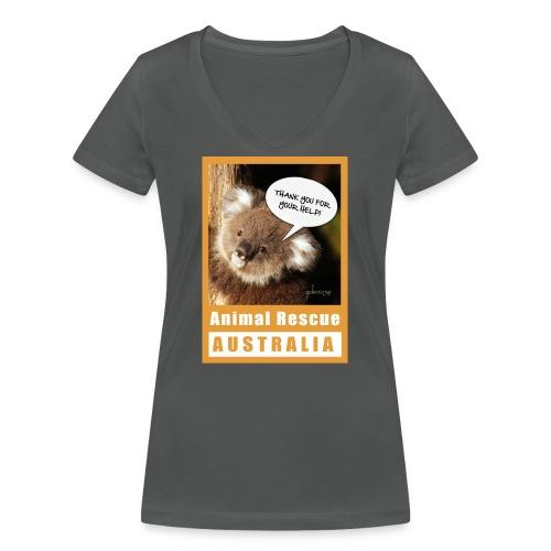 Thank You Koala - Spendenaktion Australien - Frauen Bio-T-Shirt mit V-Ausschnitt von Stanley & Stella