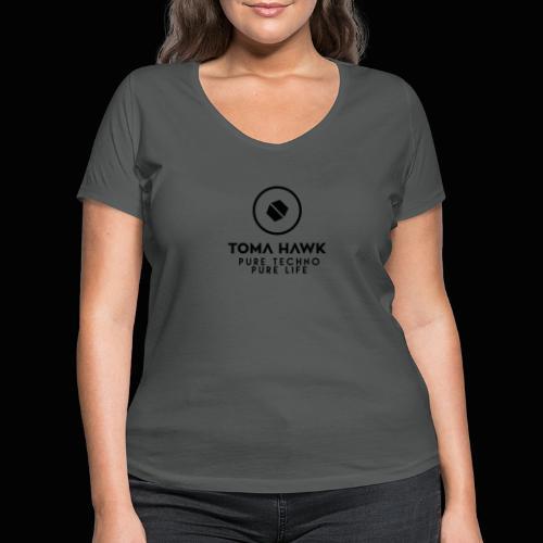 Toma Hawk - Pure Techno - Pure Life Black - Frauen Bio-T-Shirt mit V-Ausschnitt von Stanley & Stella