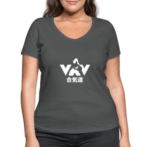 Aikido - Vrouwen bio T-shirt met V-hals van Stanley & Stella