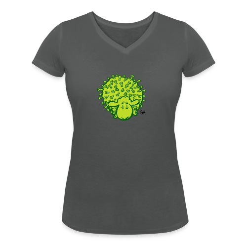 Virus Sheep - Vrouwen bio T-shirt met V-hals van Stanley & Stella