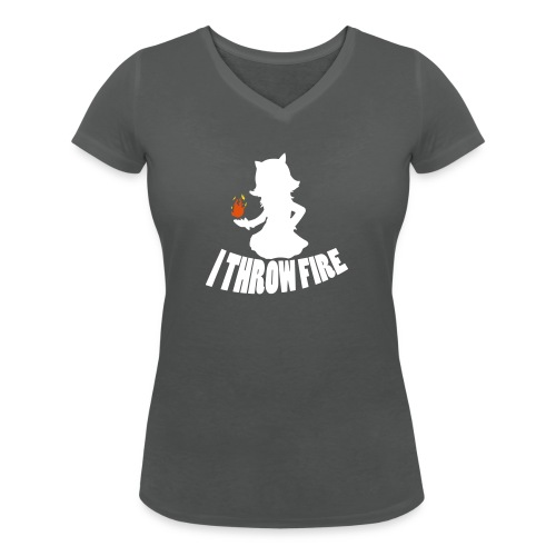 iThrowFire - Women's Organic V-Neck T-Shirt by Stanley & Stella