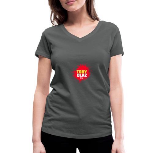 Marca Tony Olaz dj - Camiseta ecológica mujer con cuello de pico de Stanley & Stella