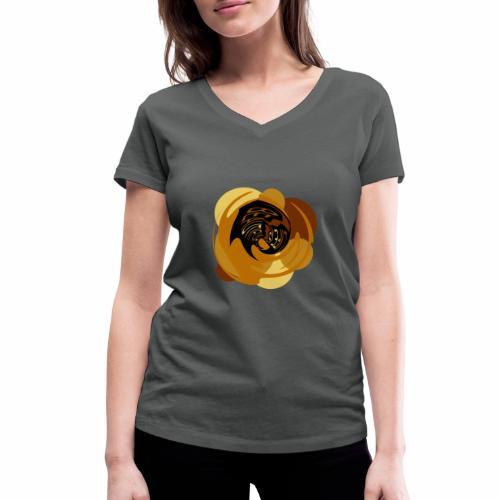 Leben ist wunderbar - Frauen Bio-T-Shirt mit V-Ausschnitt von Stanley & Stella