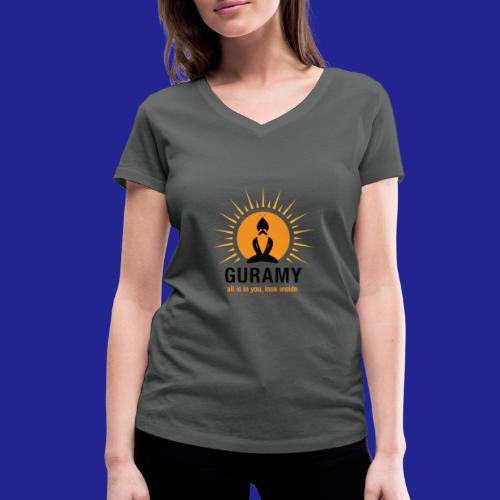 final nero con scritta - Women's Organic V-Neck T-Shirt by Stanley & Stella