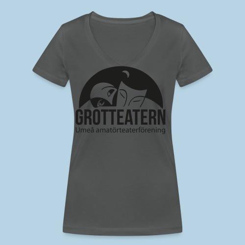 Grotteatern logo svart - Ekologisk T-shirt med V-ringning dam från Stanley & Stella