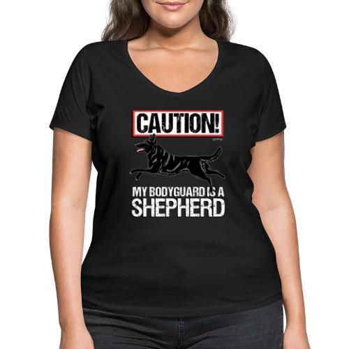 GSD Bodyguard German - Stanley & Stellan naisten v-aukkoinen luomu-T-paita