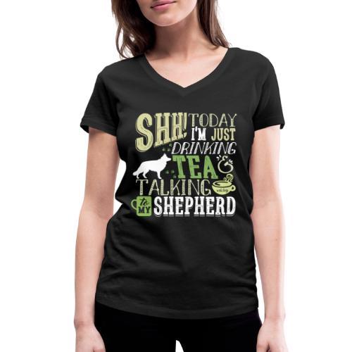 SHH GSD Tea 4 - Stanley & Stellan naisten v-aukkoinen luomu-T-paita