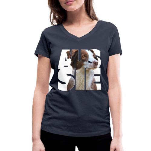 Aussie I - Stanley & Stellan naisten v-aukkoinen luomu-T-paita