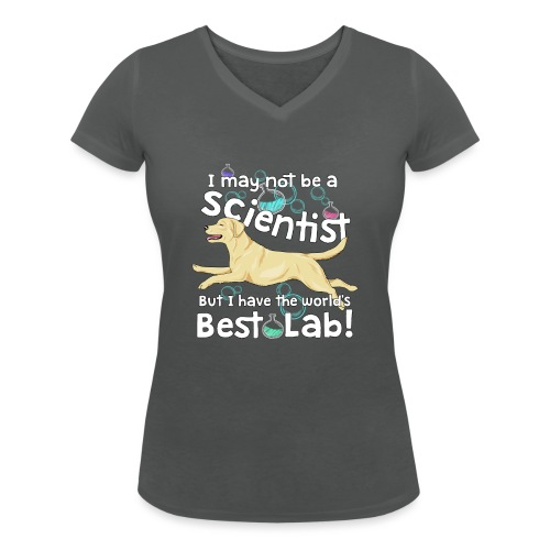 labscientist3 - Women's Organic V-Neck T-Shirt by Stanley & Stella