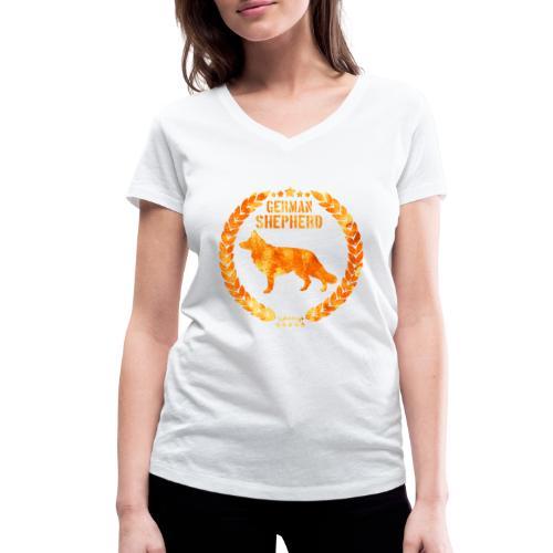 GSD Copper Army - Stanley & Stellan naisten v-aukkoinen luomu-T-paita