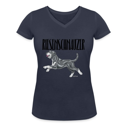 Riesenschnauzer 01 - Women's Organic V-Neck T-Shirt by Stanley & Stella