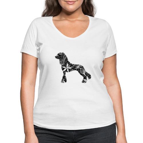 Flower Crested - Stanley & Stellan naisten v-aukkoinen luomu-T-paita
