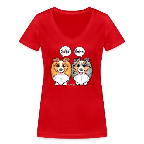 Sheltie Sheltie 3 - Women's Organic V-Neck T-Shirt by Stanley & Stella