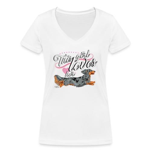 pitkisgirl - Women's Organic V-Neck T-Shirt by Stanley & Stella