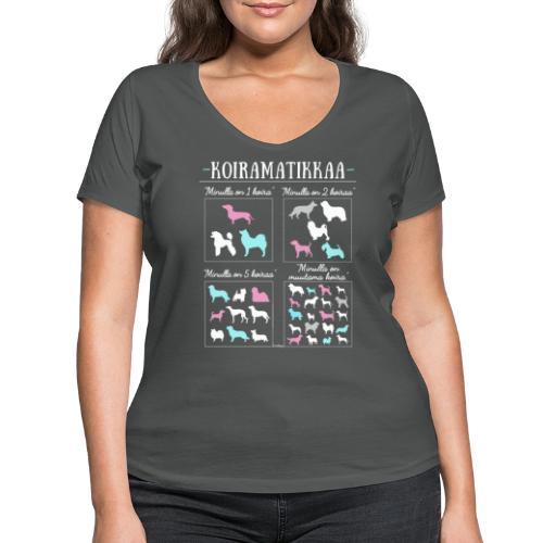 Koiramatikkaa II - Stanley & Stellan naisten v-aukkoinen luomu-T-paita
