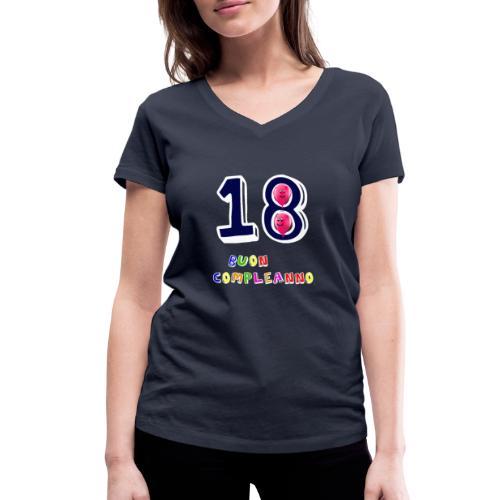 18 BUON compleanno - T-shirt ecologica da donna con scollo a V di Stanley & Stella
