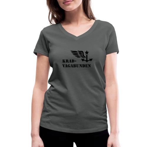Krad-Vagabunden - Logo + Schriftzug - V2 - Frauen Bio-T-Shirt mit V-Ausschnitt von Stanley & Stella