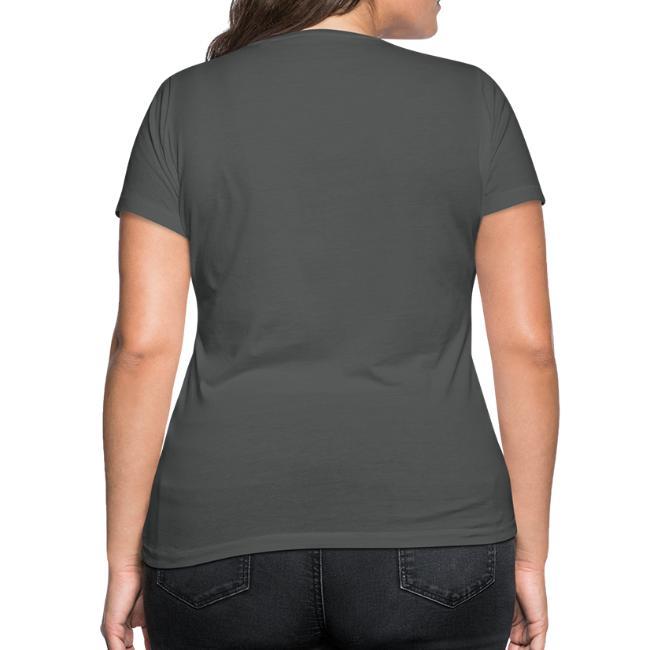 Vorschau: Nua so vü wia mit olla Gwoit einigeht - Frauen Bio-T-Shirt mit V-Ausschnitt von Stanley & Stella