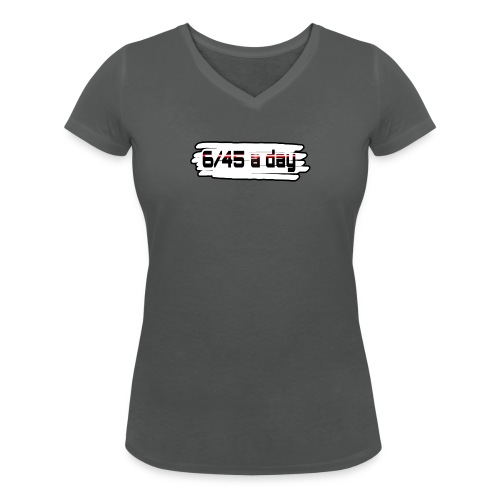 Logo 645 spread1 png - Frauen Bio-T-Shirt mit V-Ausschnitt von Stanley & Stella