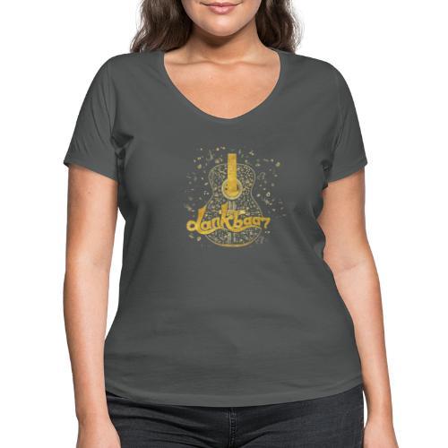 Dankbaar Gitaar Goud - Vrouwen bio T-shirt met V-hals van Stanley & Stella