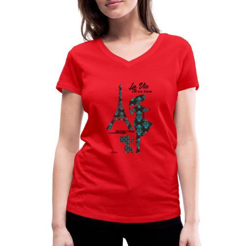 La Vie est une danse - T-shirt ecologica da donna con scollo a V di Stanley & Stella