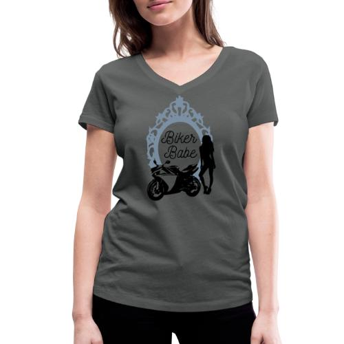 Biker Babe – Racing bike - Stanley & Stellan naisten v-aukkoinen luomu-T-paita