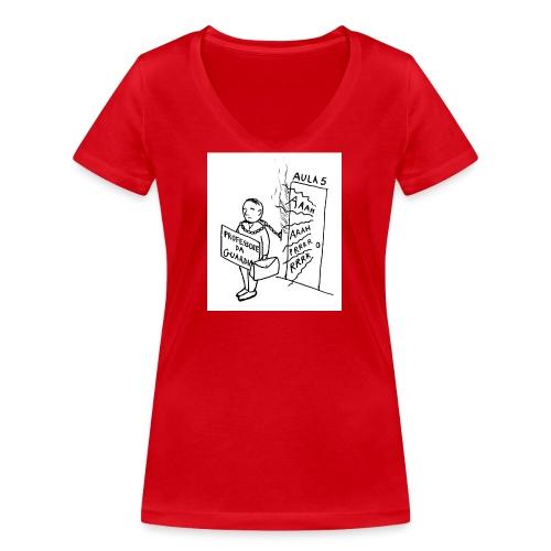 prof da guardia - T-shirt ecologica da donna con scollo a V di Stanley & Stella