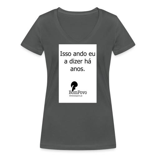 issoandoeuadizerhaanos - Women's Organic V-Neck T-Shirt by Stanley & Stella