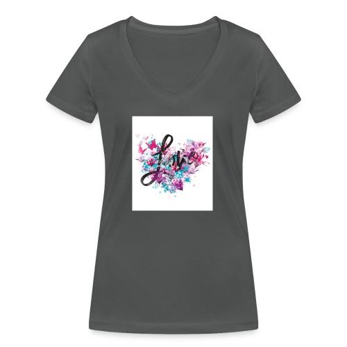 Love Heart - Frauen Bio-T-Shirt mit V-Ausschnitt von Stanley & Stella