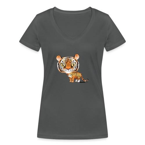 Tijger - Vrouwen bio T-shirt met V-hals van Stanley & Stella