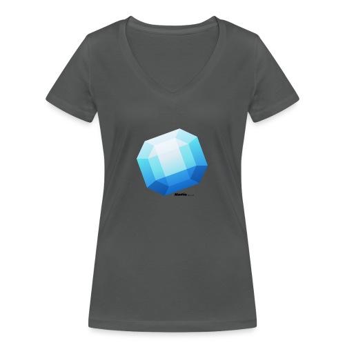 Safiiri - Stanley & Stellan naisten v-aukkoinen luomu-T-paita