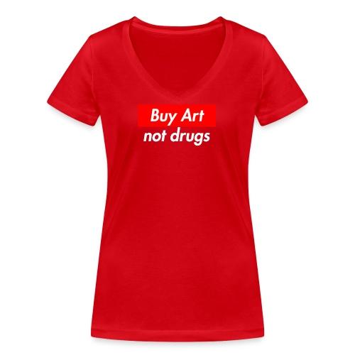Buy Art Not Drugs - Stanley & Stellan naisten v-aukkoinen luomu-T-paita