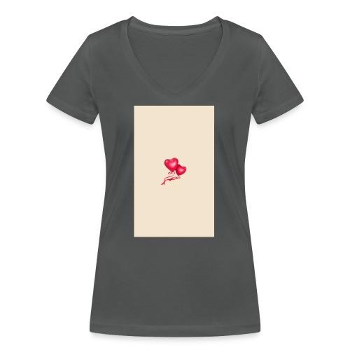 Romanticos - Camiseta ecológica mujer con cuello de pico de Stanley & Stella