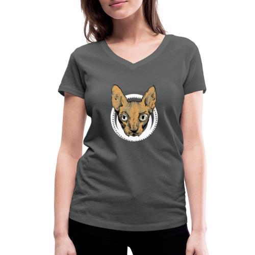 sphynx white bg - Ekologisk T-shirt med V-ringning dam från Stanley & Stella