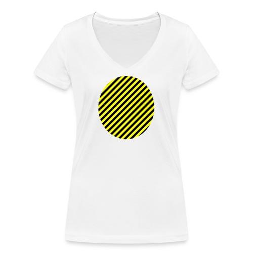 varninggulsvart - Ekologisk T-shirt med V-ringning dam från Stanley & Stella