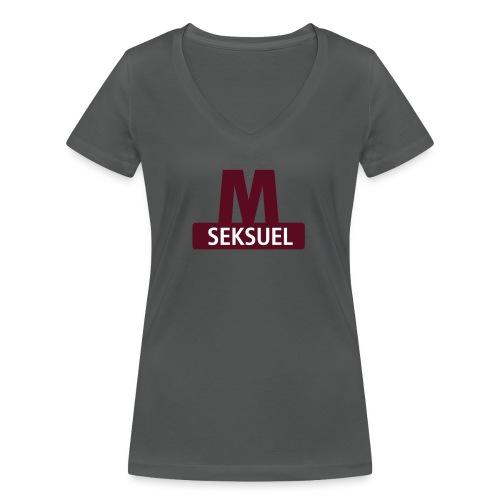 Metroseksuel - Økologisk Stanley & Stella T-shirt med V-udskæring til damer
