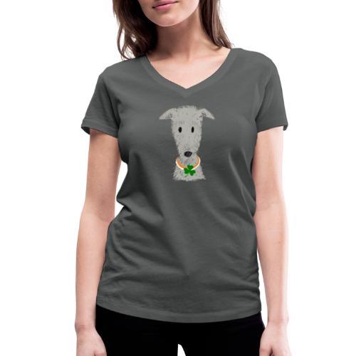 Irish Wolfhound - Frauen Bio-T-Shirt mit V-Ausschnitt von Stanley & Stella