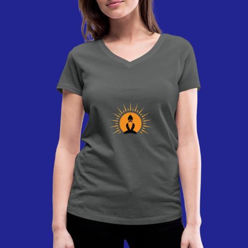 Guramylyfe logo no text black - Women's Organic V-Neck T-Shirt by Stanley & Stella
