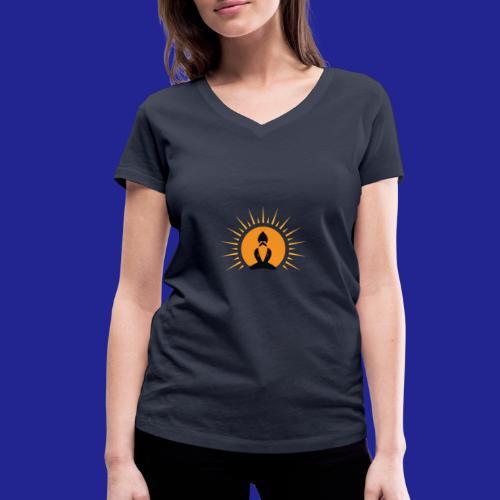 Guramylife logo black - Women's Organic V-Neck T-Shirt by Stanley & Stella